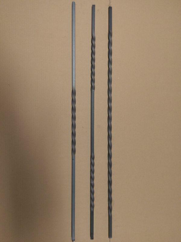 Getorste spijlen vierkant 12 mm