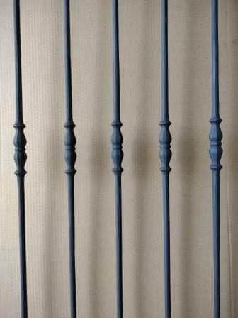 Impressiefoto van spijl type 01 mat zwart
