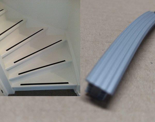 trap antislip zilver metallic