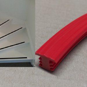 Trap antislip rood